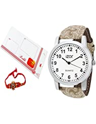 Rakhi Gift For Brother,White Dial Analogue Casual Wear Watch With FreeRakhi (Rakhi Designs May Vary) - IZWARAKHI2001