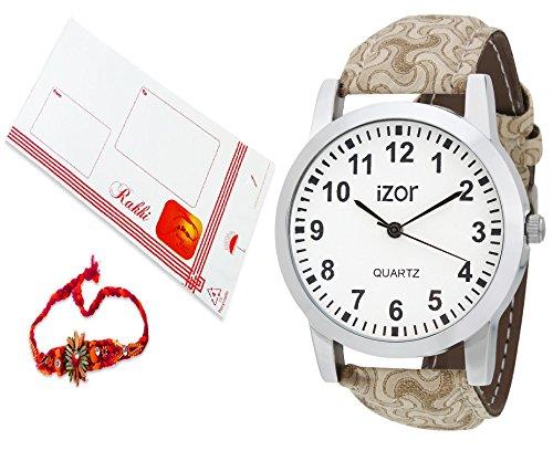 Rakhi Gift For Brother,White Dial Analogue Casual Wear Watch With FreeRakhi (Rakhi Designs May Vary) - IZWARAKHI2001