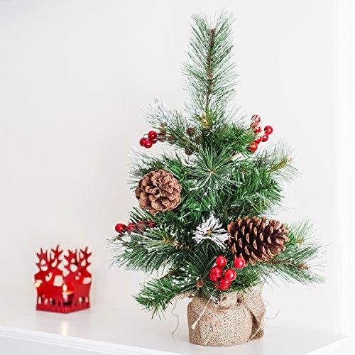 Mini Weihnachtsbaum im Jutesack Ständer Weihnachtsdeko Mini Christbaum 45cm thumbnail