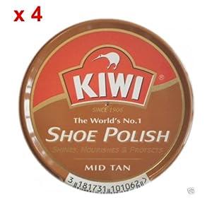 Kiwi Mid Tan 50ml Shoe Polishx4