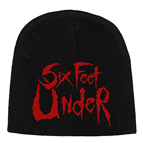 Con licenza ufficiale Six Feet Under Logo Nue Nero Beanie One Size