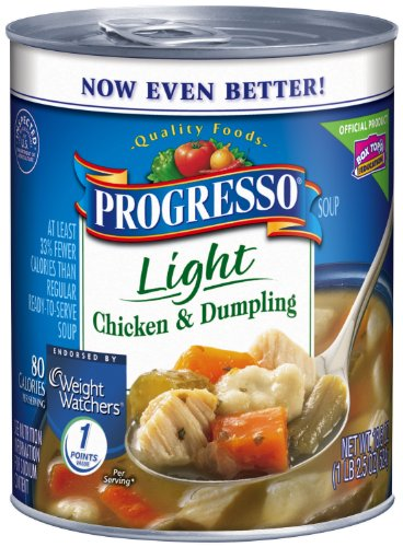 Progresso Light Soup, Chicken and Dumpling, 18.5-Ounce Cans (Pack of 12)
