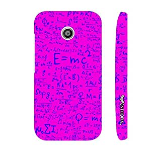 Motorola Moto E 1st Gen Einstein Energy Pink designer mobile hard shell case by Enthopia