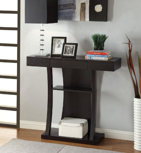 Coaster Home Furnishings 950048 Contemporary Console Table, Cappuccino front-241361
