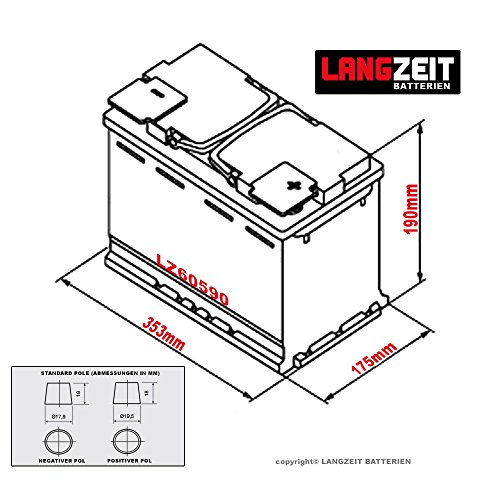 langzeit autobatterie 12v 105ah ersetzt 88ah 90ah 92ah. Black Bedroom Furniture Sets. Home Design Ideas