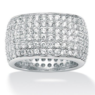 Cubic Zirconia Eternity Band Size: 7