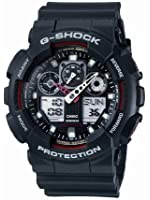 Casio Homme Big Combi G-Shock Watch, Noir