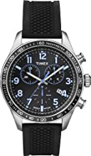 Timex T2P184-Kaleidoscope Men's Watch Quartz Chronograph Black Dial Black Silicone Strap