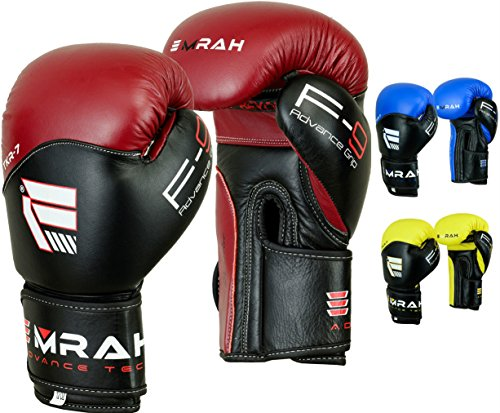 EMRAH-Cow-Hide-Leather-Gel-Boxing-Gloves-Sparring-Training-Glove-Punching-Bag-Mitts-Muay-Thai-X7