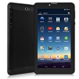 "LeaningTech QT-07 7"" inch 3G Smart Phone Google Android 4.4.2 WiFi Tablet Phablet with 2 SIM Card Slots, MTK6572 Dual Core Tablet, 8GB, Black video review"