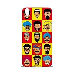 ezyPRNT Faces Of India Beautiful Premium PC Plastic Mobile Back Case Cover for Oppo F1 Plus