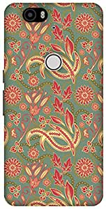 The Racoon Lean Blossom hard plastic printed back case / cover for Huawei Nexus 6P