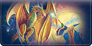 Dragons and Wizards Checkbook Cover