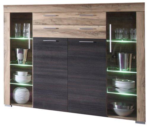 wohnwand nussbaum satin preis vergleich 2016. Black Bedroom Furniture Sets. Home Design Ideas