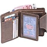 Portefeuille pour homme et femme format portrait (y compris la boîte-cadeau de LEAS) LEAS, cuir véritable, marron - ''LEAS Vintage-Collection''