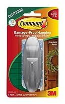 Command Outdoor Designer Hook, Large, Graphite, 1-Hook (17083G-AWES)