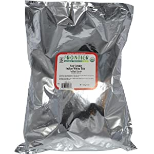 Frontier Bulk White Tea Indian ORGANIC Fair Trade Certified 1 lb. package 2936 from Frontier Natural Products Co-op