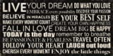 Artissimo Designs 40680CPBG0 Live Your Dream Printed Canvas Art, 24 by 12-Inch