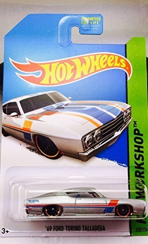 2014 Hot Wheels Hw Workshop '69 Ford Torino Talladega - Silver [Ships in a Box!] - 1