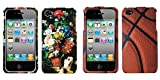 Combo pack Flowers in Terracotta Vase Phone Protector Cover for Apple iPhone 4S/4 And MYBAT Basketball-Sports Collection Phone Protector Cover for APPLE iPhone 4S/4