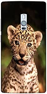 Snoogg Tiger 19 Solid Snap On - Back Cover All Around Protection For Oneplus Two