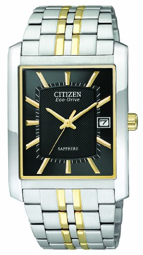 Citizen Men's Quartz Watch with Black Dial Analogue Display and Multicolour Stainless Steel Bracelet BM6784-57E