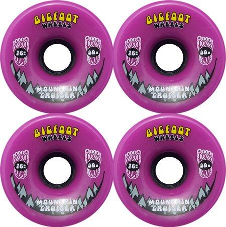 BIGFOOT Longboard Wheels 76mm CRUISERS Purple + Abec 9