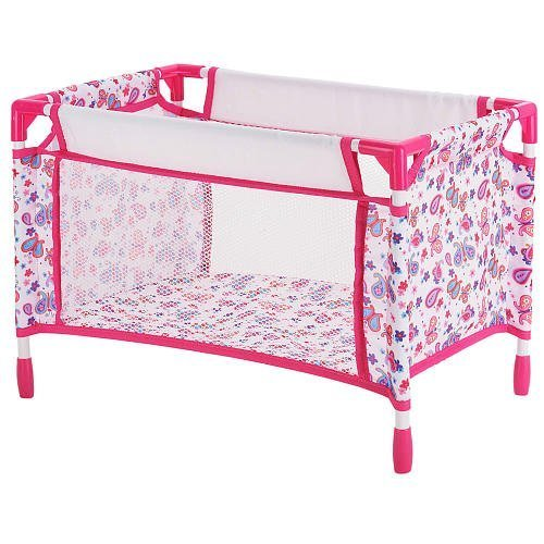 You Me Doll Playard Pink Heart Print by Toys R Us