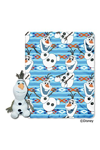 "Disney's Frozen, ""Olaf Dance"" Fleece Throw and Hugger Set - by The Northwest Company, 40-inches by 50-inches - 1"