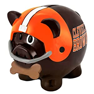 NFL Cleveland Browns Resin Large Thematic Piggy Bank by Forever Collectibles