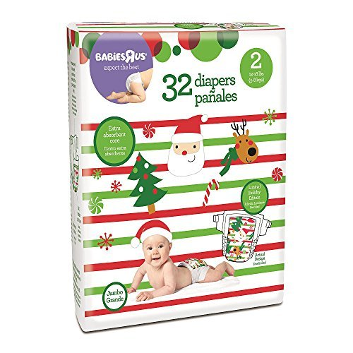 Babies R Us Brand Holiday Diaper Size 2 - 32 Count - 1