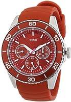 Esprit - ES103622002 - Montre Femme - Quartz Analogique - Bracelet Cuir Rouge
