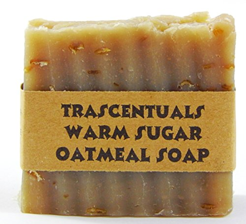 Oatmeal Soap Natural and Handmade Soothing to Skin Safe on Face or Body Helps with Eczema and Dry Skin For Women Men and Teens Chemical Free (Warm Sugar Oatmeal) (Mini Melt Away Mints compare prices)