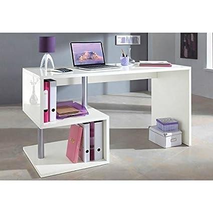 ESSE Oficina asimétrico 140 cm, color blanco lacado