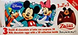 Disney Toy Surprise Chocolate Eggs, Mickey & Friends + Jake + Cars (9 Eggs)