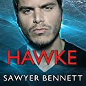 Hawke: Cold Fury Hockey Series, Book 5 Audiobook by Sawyer Bennett Narrated by Cris Dukehart, Graham Halstead