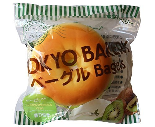 tokyo-bakery-newest-release-super-soft-large-slow-rising-bagel-bun-collection-squishy-kiwi-and-cream