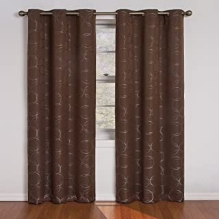 Eclipse Meridian Blackout Window Curtain Panel, 108-Inch, Chocolate