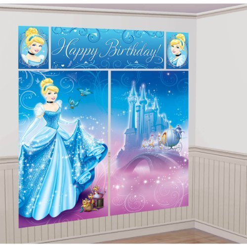 Cinderella Scene Setter Wall Decorating Kit Princess Disney Birthday Party by Amscan [Toy]