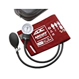 ADC Prosphyg 760 Pocket Aneroid Sphygmomanometer with Adcuff Nylon Blood Pressure Cuff, Adult, Red (Color: Red, Tamaño: Adult)