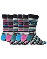 Kickers - 6 paires de chaussettes rayées hommes de coton, 39-45 eur, K35, Bastille