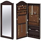 Best Choice Products Wall Mounted Mirror Jewelry Cabinet Armoire