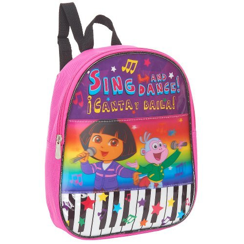 Dora the Explorer Piano Lenticular 10 inch Mini Backpack - Pink