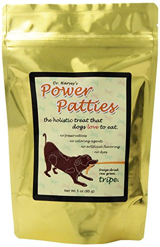 Dr. Harvey'S Power Patties Freeze Dried Raw Green Tripe Treat For Dogs, 3-Ounce Bag