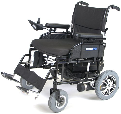 Wildcat 450 Heavy Duty 22 Blk Folding Power Wheelchair W/Sdf