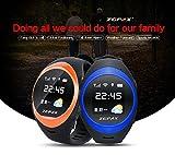 Morjava-S888-Kids-Elder-GPS-tracking-watch-phone-GPS-Watch-Smart-Watch-Tracker-Bluetooth-Child-Smartwatch-Two-Way-Conversation-Intercom-066-inches-OLED-SMS-Phone-Calls-GPS-AGPS-LBS-Blue