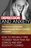 ANXIETY DEPRESSION TREATMENT: THE SECRET TO OVERCOME DEPRESSION AND ANXIETY QUICKLY AND EASILY (Depression Self Help): HOW TO NATURALLY FREE YOURSELF FROM ... Stress Anxiety Depression, Meditation,)