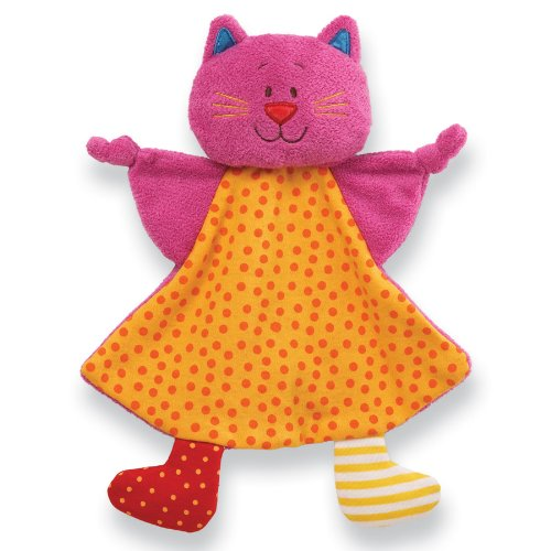 "Gund Baby Sock Hop Crinkle Buddy Blanket, Cat, 11"" front-601740"