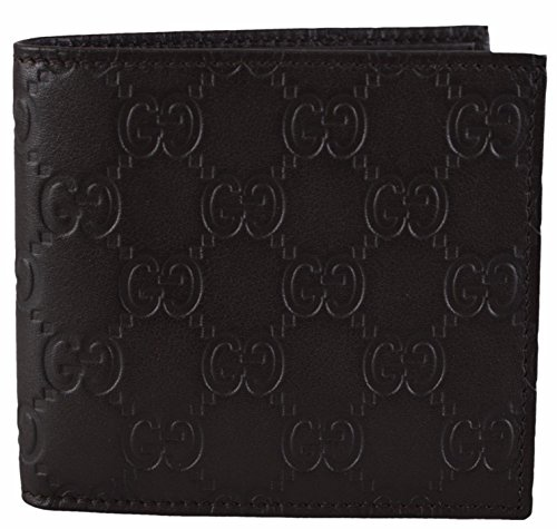 Gucci Mens 150404 Brown Leather GG Guccissima Bifold Wallet