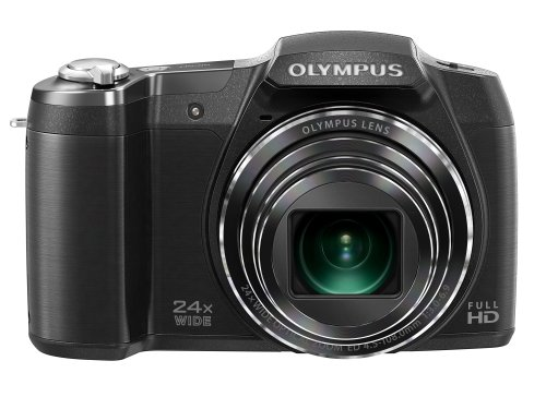 Olympus Stylus SZ-17 Digital Camera with 24x Optical Image Stabilized Zoom with 3-Inch LCD (Black)